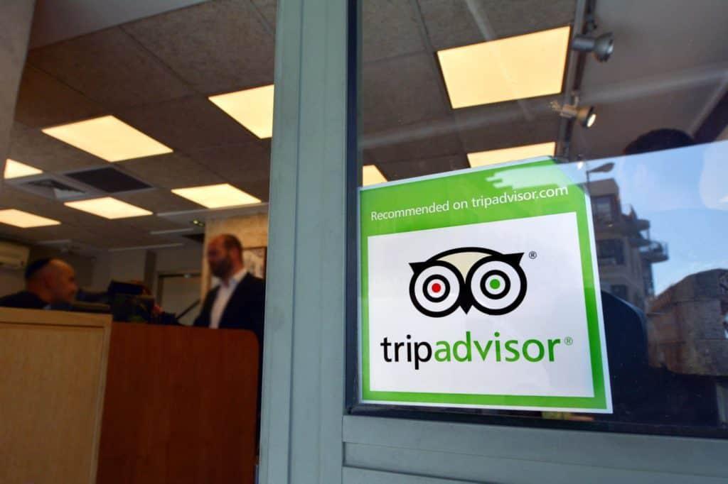 Recommended on TripAdvisor sticker